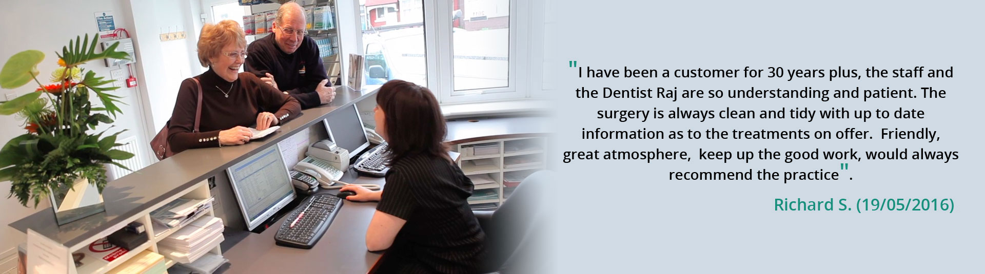 Dental Testimonials - Chingford Mount Dental Practice